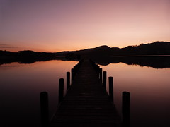 Coniston jetty sunset (GillWilson) Tags: