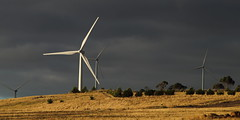 Wind Towers (blachswan) Tags: sunset clouds australia victoria windtowers waubra waubrawindfarm