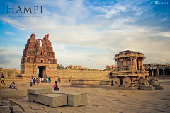 Icon of Hampi (abhiomkar) Tags: world blue sky india heritage temple site ruin karnataka hampi ruined