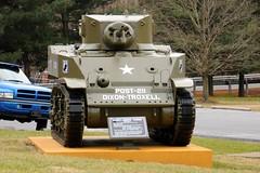 M3A1 Light Tank: Dixon-Troxell American Legion Post 211 (Throwingbull) Tags: city light town md war tank post military maryland dixon american vehicle legion incorporated 211 tracked armament m3a1 funkstown troxell