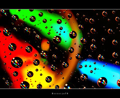 DVD Color Drops   [explored] (Borretje76) Tags: dvd cd sainbow colors rainbowcolors bold bright macro led light drops droplets glass plate abstract borretje76 a580 water druppel druppels glasplaat verlichting reflection reflections refletie reflecties weerspiegeling vertekening spatten spatjes plantenspuit ledverlichting neon nik software pse sigma 180mm dutch enschede netherlands sony dslra580 f16 iso100 gupr explore explored frontpage