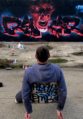 HELL REKOR (HardRekor) Tags: france french graffiti le devil graff toulouse cercle diable pmb ferm lcf rekor p1k