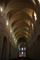 The simplicity of Romanesque Architecture (sylvie bergere) Tags: window abbey fenster vault archway romanesque gewlbe romanik bogengang abtei lessay saintetrinit ribvault kreuzrippengewlbe