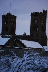 Snowy Hartwood hospital (3.0s) Tags: snow hospital nikon towers twin clocktower asylum hartwood d40