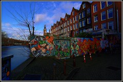 Amsterdam Grafitti (JohnMiller Photography) Tags: netherlands colors amsterdam grafitti angle wide canals ultra hdr uwa canon7d tokina1116