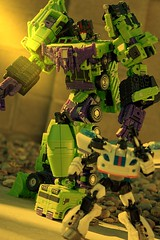 Prepare for Devastation (Broken Forge Photography) Tags: toys construction action deluxe jazz transformers figures hercules autobot hasbro tfc gestalt devastator constructicons combiner revealtheshield