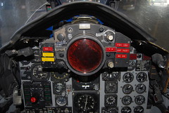 McDonnell-Douglas F4 Phantom II cockpit trainer US Navy Phantom pilot's instrument panel (wbaiv) Tags: usa training plane airplane us flying panel display aircraft military navy machine cockpit sparrow instrument missile phantom simulator f4 pilot trainer radar selector status repeater procedures aim7 trainersimulator ironbirdproceduresrefresherinstrument