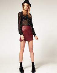 (JAGASKARMODE) Tags: leather skirt jupe cuir wwwaoscom