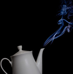 Steaming teapot (Indigo Skies Photography) Tags: lighting colour studio photography flickr smoke australia victoria steam teapot colourful incense strobes echuca speedlite nikond90 nikonafnikkor50mmf18d yn560 raychristy