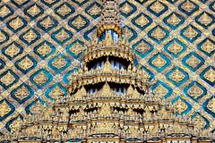 Lovely patterns (fameleaf is snoozing) Tags: architecture thailand temple bangkok buddha wat phra kaew ubosot