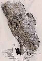 Motherly Love (Jim_V) Tags: dinosaur motherhood tyrannosaurusrex tyrannosaur dippen nibpen promarker