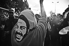Protestor wearing Mina Daniel Mask. (AhmadHammoud) Tags: freedom january egypt hijab cairo 25 revolution tahrir maspero noscaf