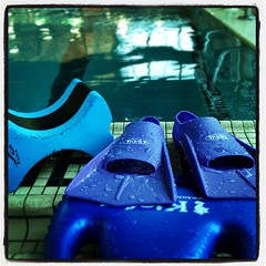 Wet outside, wet inside #swim (shebicycles) Tags: square lofi swimmingpool squareformat ymca fins kickboard pullbuoy laplane iphoneography instagramapp uploaded:by=instagram