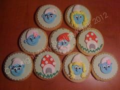 Smurf Cookies (Niki SG) Tags: art cookies cookie sugar smurf smurfs sugarpaste xake glyka     sketi