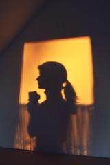 Shadow photographer (ms holmes) Tags: light sunset shadow window wall hair person licht sonnenuntergang framed fenster wand simplicity curtains ponytail simple schatten rahmen haare einfach gardine pferdeschwanz schlicht canoneos1000d