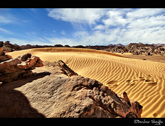 Somewhere in Sahara ! (Bashar Shglila) Tags: sky sahara clouds forest stones dunes sands libya       mygearandme mygearandmepremium mygearandmebronze mygearandmesilver mygearandmegold akakos mygearandmeplatinum ringexcellence dblringexcellence tplringexcellence