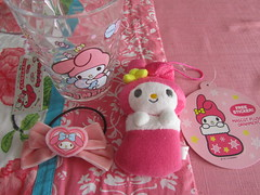 My Melody Plush Ornament, Hair Tie & Cup (Suki Melody) Tags: hello christmas pink cute rabbit bunny cup hair store sticker character adorable kitty tie velvet plush sanrio collection melody ornament bow kawaii plushie ribbon stocking bows accessory