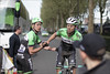 post race - Belkin riders Jos van Emden and Lars Boom (Rhode Van Elsen - cycling photography) Tags: paris cycling cobbles pave roubaix 2014 parisroubaix procycling
