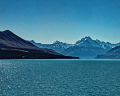 Mt Cook (DASEye) Tags: blue newzealand mountain lake mountains water nikon nz mtcook lakepukaki davidadamson daseye