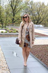 What To Wear To Mother's Day Brunch | Spring Neutral Floral Dress | Zara Trench Coat | Nude Sandals on Living After Midnite by Jackie Giardina (jackiegiardina) Tags: floral fashion spring outfit highheels dress sandals style trench blonde cateye livingaftermidnight livingaftermidnite jackiegiardina