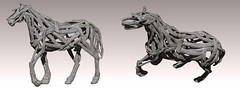 Driftwood Horse Arcade Wip ( Stasey Oller ) Tags: life decorations horse black garden secret arcade wip driftwood second magical bantam the