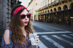 Smoothie Face (iAmParacelsus) Tags: street portrait girl torino smoothie turin