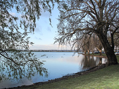 Lake Wendouree, Ballarat - Victoria (Marian Pollock - Thanks for a million+ views) Tags: trees sunset lake silhouette reflections pier australia victoria nsw picturesque ballarat lakewendouree folleage