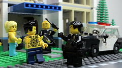 Get off my property pigs! (Brick Police) Tags: lego police lapd