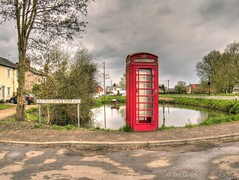 Old Buckenham (Ian Gedge) Tags: old uk england english sign pond village britain norfolk british phonebox eastanglia buckenham