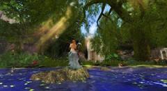 RYL Fairy over water (rosabellarosesl) Tags: wood lake water contest fairy mermaid sunbeam sonnenstrahl sonnenstrahlen meerjungfrau slphoto