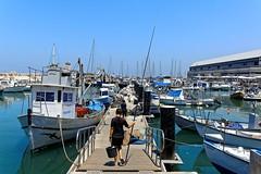 Jaffa Harbour / The departure of the angler  5/5 (Pantchoa) Tags: jaffa port isral moyenorient telaviv nikon d7100 1685 pcheurlaligne pcheur barques bateaux extrieur cte mditerrane rivage littoral pantchoa franoisdenodrest