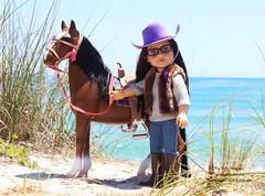 Journey Girl Dana (thedollydreamer) Tags: horse beach doll dana cowgirl exclusive toysrus journeygirls thedollydreamer bridgetdellaero mygenerationhorse