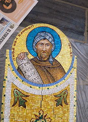 2016-05 Mosaics Phase XI Installation IMG_0782 (Greek Orthodox Church of the Holy Cross) Tags: california church greek us belmont mosaic orthodox iconography tonelli