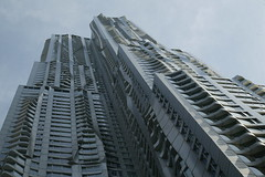 New York by Gehry (Fool4myCanon) Tags: street new york building architecture manhattan gehry structure spruce