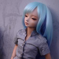 Ice Byrne (almyki) Tags: blue ball kyle asian doll slim skin 14 mini fairy tiny bjd abjd joint baked msd bluefairy
