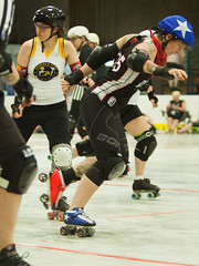 IMG_2612 (clay53012) Tags: womens flat track roller derby wftda derby flat track madison mrd league bout jammer jam team skate hartmeyer ice arena moocon2016