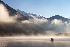 Lone fisherman in the mist (MC-80) Tags: mist lake misty fog boot austria see boat tirol fisherman nebel lone tyrol angler fischerboot ster nebelstimmung