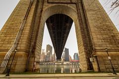 Under Ed Koch Queensboro Bridge, viewed from Roosevelt Island (rafaelpuerto) Tags: nyc bridge ny newyork brooklyn manhattan 1018 queensborobridge rooseveltisland queensboro 59thstreet edkochbridge rafaelpuerto
