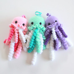 Return of Jacob (EssHaych) Tags: toy jellyfish pattern crochet plush squid plushie octopus pdf etsy amigurumi tutorial safetyeyes esshaych