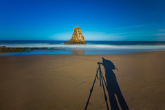 A Selfie! (colored shadows) Tags: california blue shadow santacruz seascape beach me water canon myself one californiaone movement highway rocks long exposure day photographer angle outdoor wide filter lee nd 5d davenport ultrawide hwy1 selfie 2016 cliched 10stop