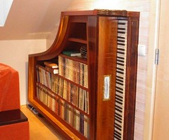 Piano bookshelf (irecyclart) Tags: piano books bookshelf