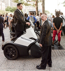 Keeping America Safe from liberty (j-No) Tags: world nyc cops manhattan tricycle police center security segway lower financial patrol paramilitary segwaytricycle