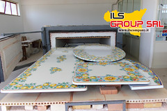 Cottura ultimata (ILS Group - International Lavic Stone) Tags: ceramica ceramic pietra tavolo caltagirone tavoli basalto decoro lavica lavico