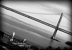 On Tilt (SulliStyle) Tags: sf sanfrancisco bw blackwhite baybridge embarcadero sfist