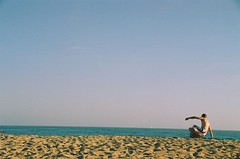 (hikelz) Tags: ocean sea people film beach sand outdoor orangecounty huntingtonbeach 2007 canonrebelk2