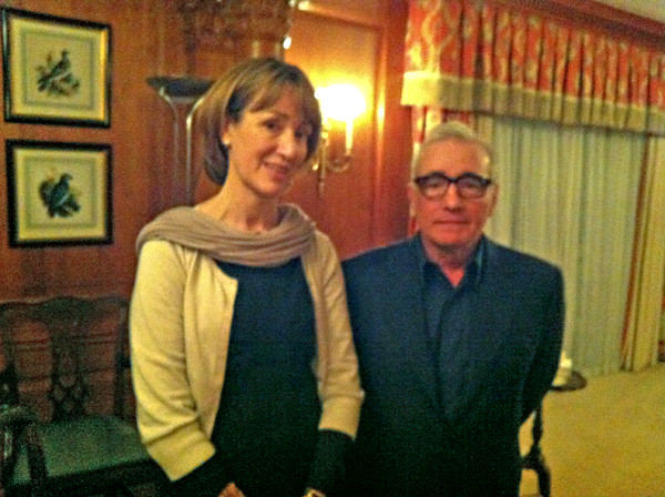 Francine Stock with Martin Scorsese on @BBCRadio4s The Film Programme