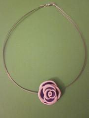 Rosa lila-blanco (Moniketes) Tags: rosa arcilla polimrica