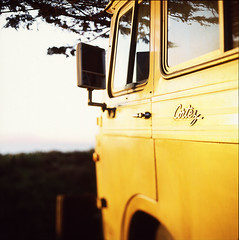 Enjoying sunset life. (diyosa) Tags: sunset film marina cortez motorhome kodake100g rolleiflexsl66 cortezmotorcoach