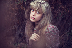 (Emily Jane Morgan) Tags: blue portrait me girl rural self vintage hair myself eyes long blonde periodic secrecy i
