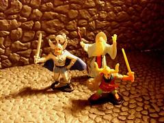 dnd3heroes2 (cmdrkoenig67) Tags: action wizard dwarf dragons add dd figures matchbox dungeons elkhorn advanced paladin ljn strongheart ringlerun